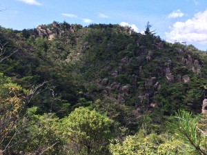 堂山の北面が見えている。