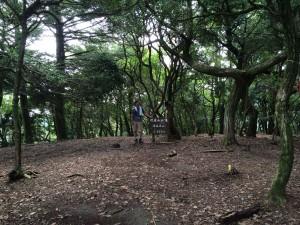 松尾山山頂。
