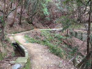 生瀬水路道。