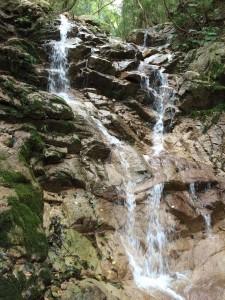 二段の滝の上段。