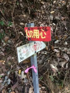 ここで林道を離れて「悪路」をたどる。