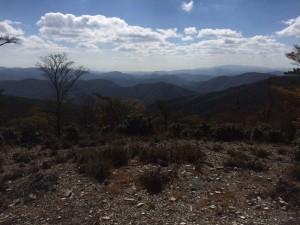 半国山山頂から南西方面の眺め。