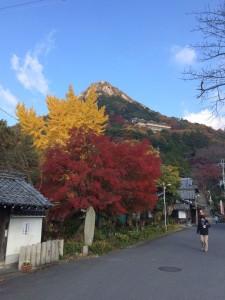 紅葉と赤神山。