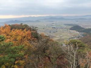 赤神山山頂からの眺め。