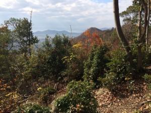 箕作山山頂からの眺め。南面。