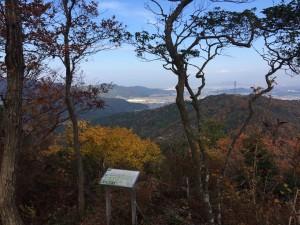 箕作山山頂からの眺め。北面。