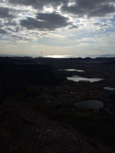 瀬戸内海の眺め。