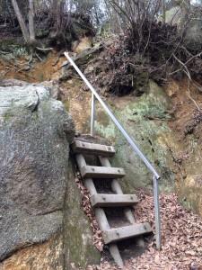 コンクリート製のはしご。
