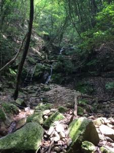 もう一つの多段の滝。