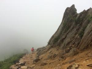 霧の中を歩き出す。
