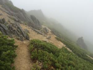霧の稜線。