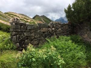 二俣小屋跡。