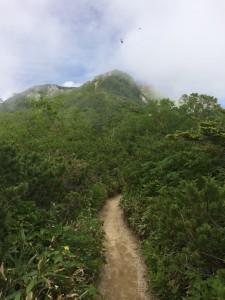 ようやく燕山荘が見えるように。
