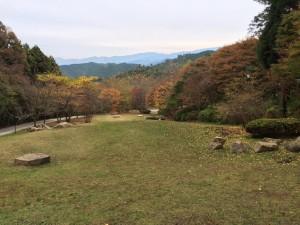 岩湧寺の園地からの眺め。